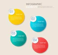 创意圆形 信息图表图片