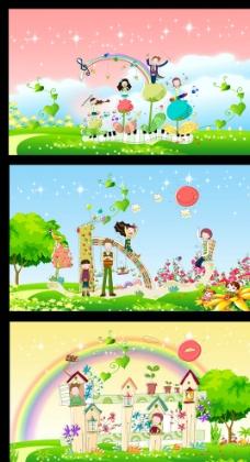 学校卡通背景图片