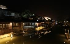 江南 水乡 古镇 西塘  夜景图片