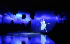 桂林芦笛岩水幕图片