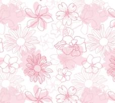 浅粉色手绘花卉背景图片