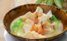鲜虾汤浸虾饺图片