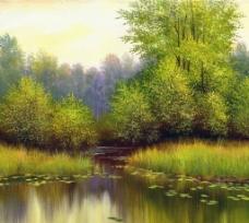 绿树潭影图片
