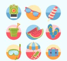 圆形夏日 图标图片