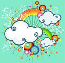 可爱卡通云背景图图片
