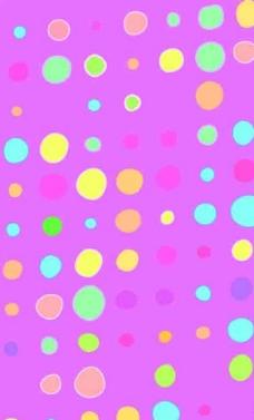 错位圆圈花纹布料印花图片
