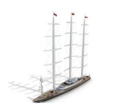 三柱帆船图片