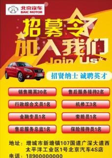 北京汽车招聘图片