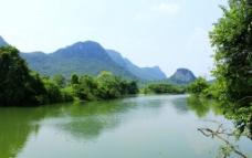 桂林桃花江山水风光图片