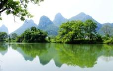桃花江山水风景图片