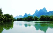 桃花江山水倒影景观图片