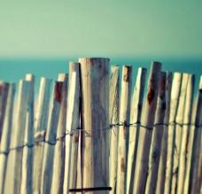 海边栅栏非主流图片