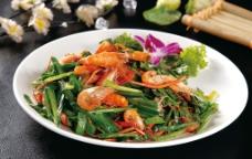 韭菜炒河虾图片