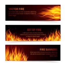 时尚火焰 BANNERS 背景图片