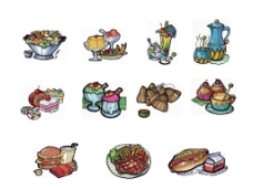 手绘食品图片