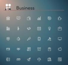 30个商业符号矢量图标素材图片