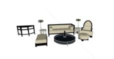SU模型沙发组图片