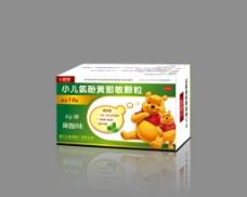 小儿氨酚黄那敏颗粒包装平面展开图片