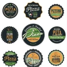 9款精致披萨矢量标签素材图片