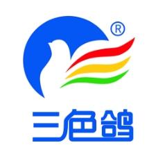 三色鸽标志连体字图片
