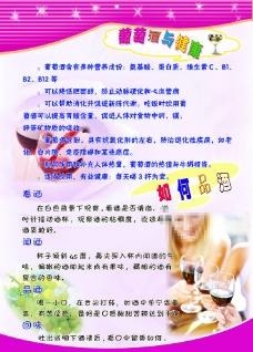 葡萄酒健康宣传设计图片
