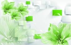 绿色百合(分层图)图片