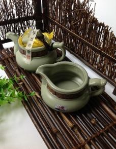 汝窑茶具图片