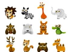 可爱矢量小动物图片