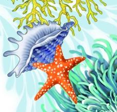 海底彩绘画图片