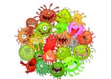 矢量病毒细菌图片