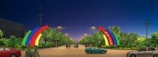 工业园夜景图片