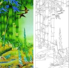 竹子鸟图片