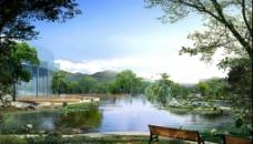 山水园林景观设计PSD分层素材图片