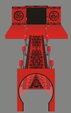 周制婚礼布置设计图片