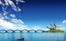 创意海岛风景图片