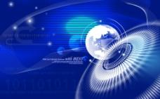 蓝色商业科技分层背景图图片