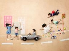 奔驰儿童节图片