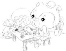 爱吃糖果的熊多多图片