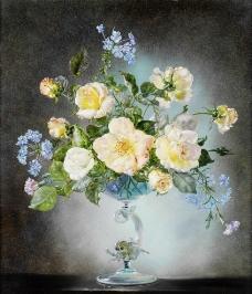 花瓶鲜花图片