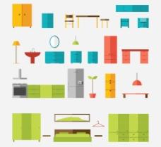 扁平家具图片