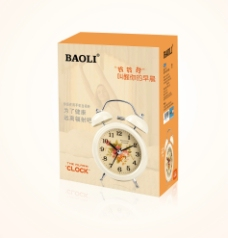 闹钟盒包装 展开图图片