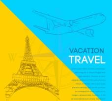 创意旅行 插画图片