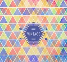 彩色叠色三角形背景矢量素材图片