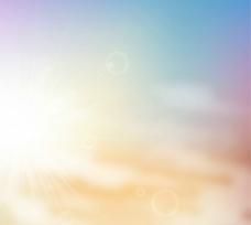 梦幻色天空背景矢量素材图片