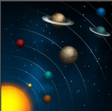 太阳系行星图图片