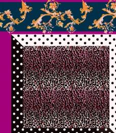 分层民族风 豹纹 花纹图片