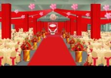 喜庆婚礼效果图图片