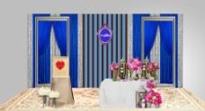 婚礼展示区效果图图片