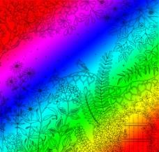 彩色秘密花园图片