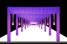 婚礼舞台通道效果图图片